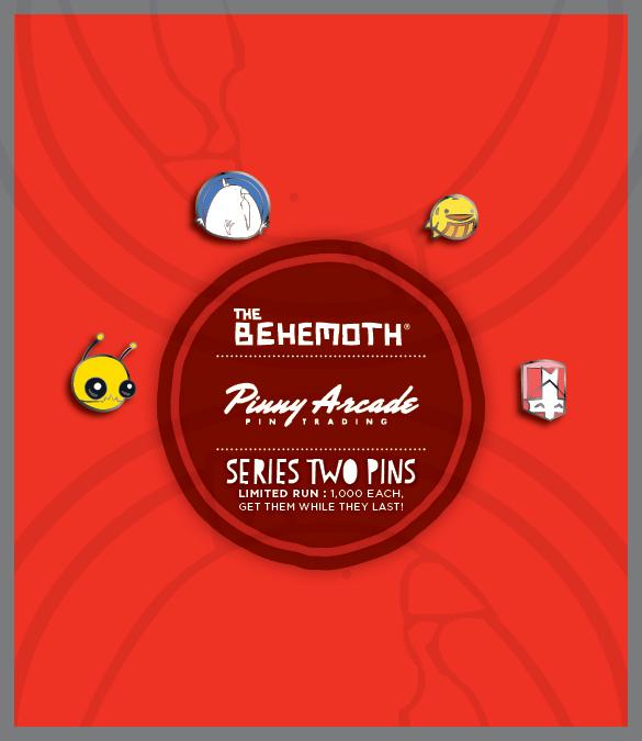 the behemoth blog pax east pinny arcade pins