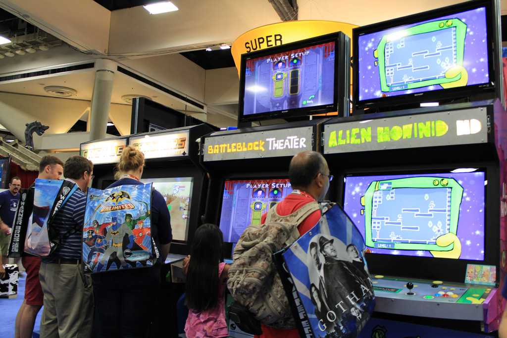 Lined up our arcade like ABC: Alien Hominid HD, BattleBlock Theater, Castle Crashers Remastered