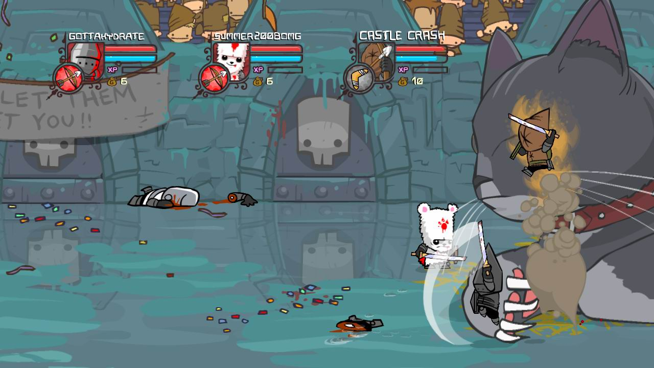 how to get the behemoth in castle crashers