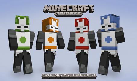 Castle Crashers in Minecraft Castle Crashers Orange Knight Minecraft Skin