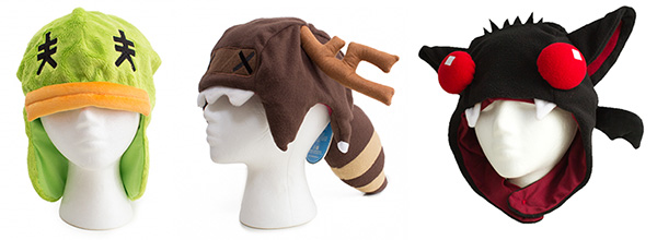The behemoth blog sdcc 2016 booth 229 plush hats designs available from left to right duckshark raccoon publicscrutiny Choice Image