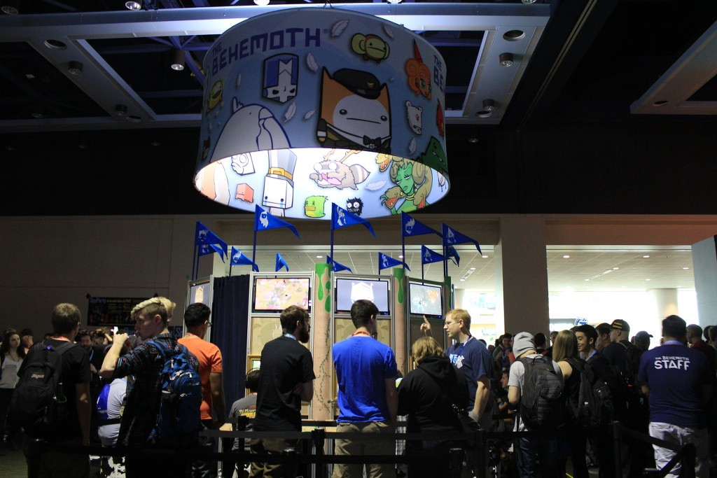 Our rotating sign hangs above our booth